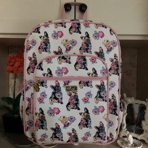 Betsey Johnson French Bulldog backpack w/ wristlet